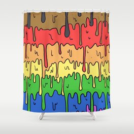 Cute Pride Pastel Melting Pride Design, 2018 pride flag Shower Curtain