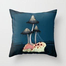 Drippy Fungi Throw Pillow