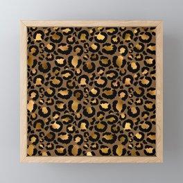 Leopard Metal Glamour Skin Framed Mini Art Print