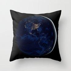 City Lights (Globe) Throw Pillow