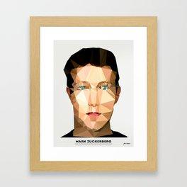 Mark Zuckerberg  Framed Art Print