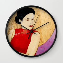 Umbrella Girl Wall Clock