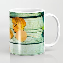 four yellow leaves Coffee Mug