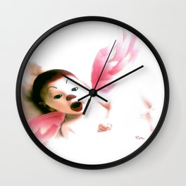 PLAYFUL ANGEL Wall Clock