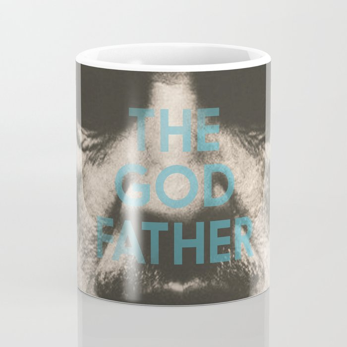 The Godfather, minimalist movie poster, Marlon Brando, Al Pacino, Francis Ford Coppola gangster film Coffee Mug