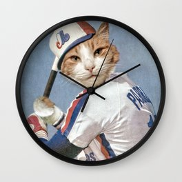 Montreal 'Chat'pos Wall Clock