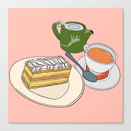 Aftenoon Cake Treat Canvas Print