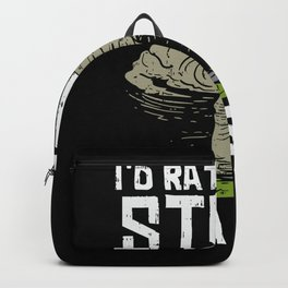 Storm chasingI'd Rather be Storm Chasing tee. Backpack