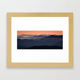 Ridges in Early Morning Light Framed Art Print
