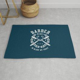 Barber Rebel, barber shop Rug