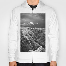 Storm Over The Badlands Black and White Hoody