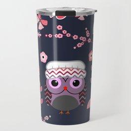 Baby owl, lizards and butterflies Travel Mug