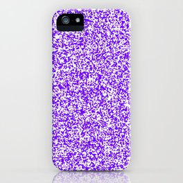 Tiny Spots - White and Indigo Violet iPhone Case