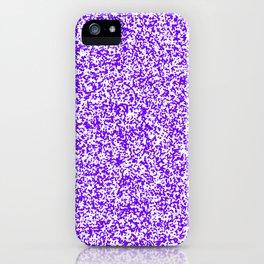 Tiny Spots - White and Indigo Violet iPhone Case