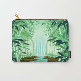 Fluorescent Waterfall on Surreal Bamboo Forest Carry-All Pouch