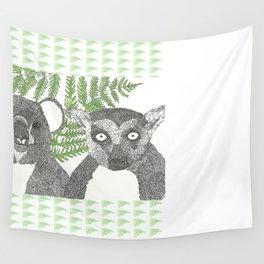 Koala and Lemur in Love Wall Tapestry