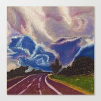 road Canvas Prints featuring Road by Shazia Ahmad