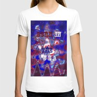 patriotic T-shirts featuring AMERICAN PATRIOTIC by hippiedaisysart