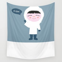 Cute little Eskimo Wall Tapestry