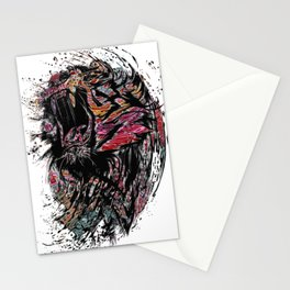 The Lion King Colorful Big Cat Face Design Stationery Cards