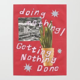 doing nothing Poster