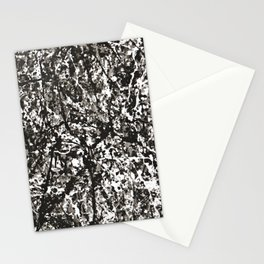 Pollock texture Stationery Cards