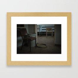 Chairs inside an Abandoned Hospital Framed Art Print