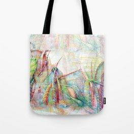 Vegetal color chaos Tote Bag