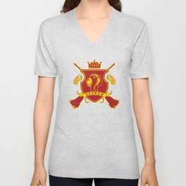 Red Lion Seeker Unisex V-Neck
