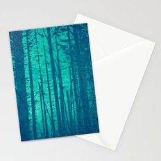 Forest Trees - Through the Blue Woods Stationery Cards