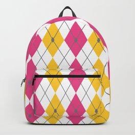 Pink & Orange Rhombus Backpack