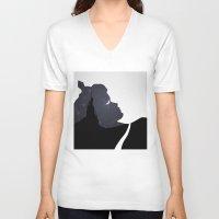 sleeping beauty V-neck T-shirts featuring Sleeping Beauty by Rowan Stocks-Moore
