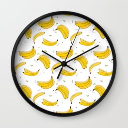 Banana print Wall Clock