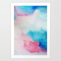 nirvana Art Prints featuring Nirvana by elena + stephann