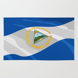 Nicaragua Fancy Flag Rug