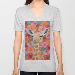 George the Giraffe Unisex V-Neck