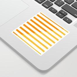 Beach Stripes Orange Yellow Sticker
