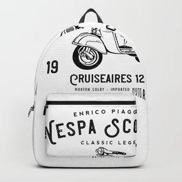 Vintage Piaggio Scooter 1953 125cc T Shirt Original Design Backpack