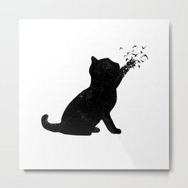 Poetic cat Metal Print