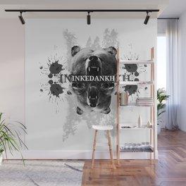 Inked Bear Wall Mural