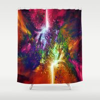 chaos Shower Curtains featuring Chaos by Robin Curtiss