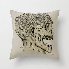 Zombie Phrenology Throw Pillow