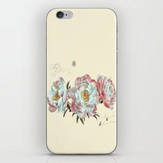 vintage peonies iPhone & iPod Skin