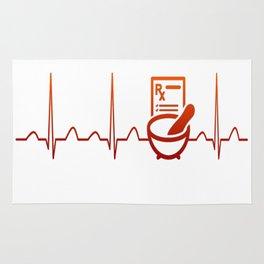 PHARMACIST HEARTBEAT Rug
