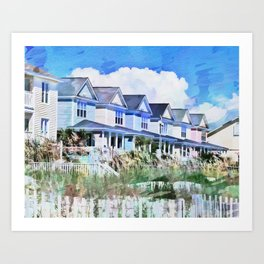Beach Homes PhotoArt Art Print