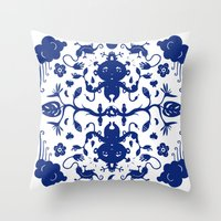 jungle Throw Pillows featuring JUNGLE by RUEI