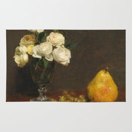 Henri Fantin-Latour - Still Life With Roses And Fruit Rug