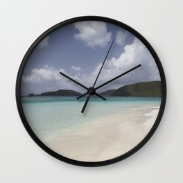 Cinnamon Bay Wall Clock
