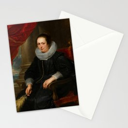 Portrait of a Woman - Peter Paul Rubens Stationery Cards