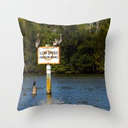 Manatee Zone Throw Pillow